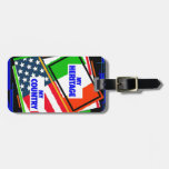 Italy,...my Heritage, USA,...my Country Luggage Tags