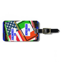 Italy,...my Heritage, USA,...my Country Luggage Tag