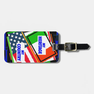 Italy my Heritage USA my Country Luggage Tags