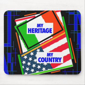 Italy,...my Heritage, USA,...my Country Mouse Pad