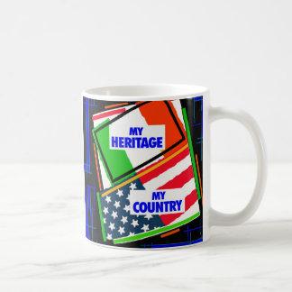 Italy,...my Heritage, USA,...my Country Classic White Coffee Mug