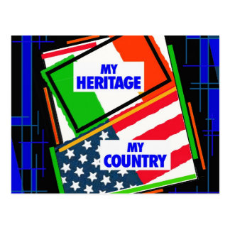 Italy,...my Heritage, USA,...my Country Postcard