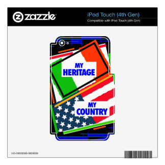 Italy,...my Heritage, USA,...my Country Skins For iPod Touch 4G