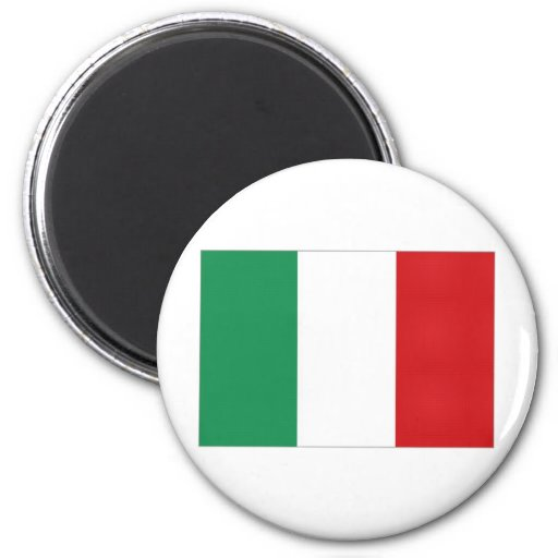 Italy National Flag 2 Inch Round Magnet