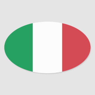 Italy National Flag Oval Sticker