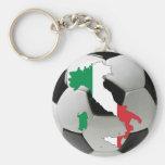 Italy national team basic round button keychain