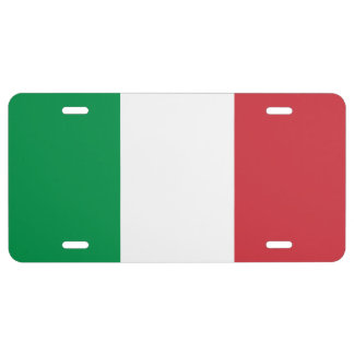 Italy National World Flag License Plate
