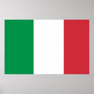 Italy National World Flag Poster