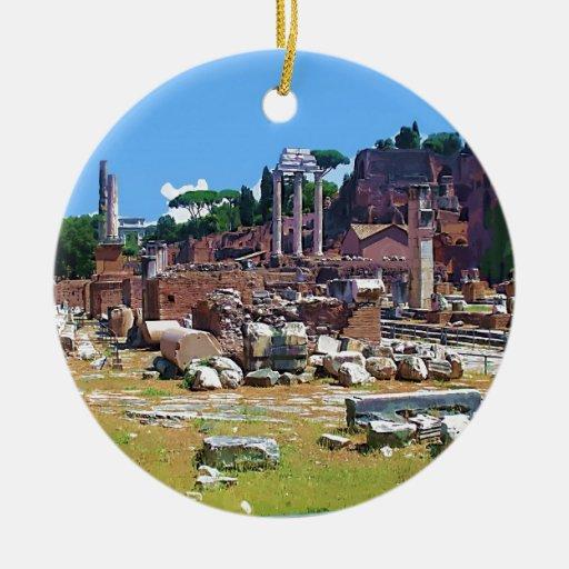 ITALY Old Forum Ceramic Ornament