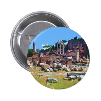 ITALY Old Forum Pinback Button