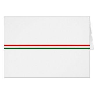 Italy or Mexico banner / flag Card