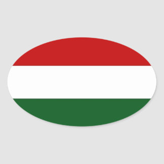 Italy or Mexico banner / flag Oval Sticker