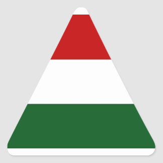 Italy or Mexico banner / flag Triangle Sticker