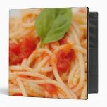 Italy, Orta, Lake Orta, spaghetti with tomato 3 Ring Binders