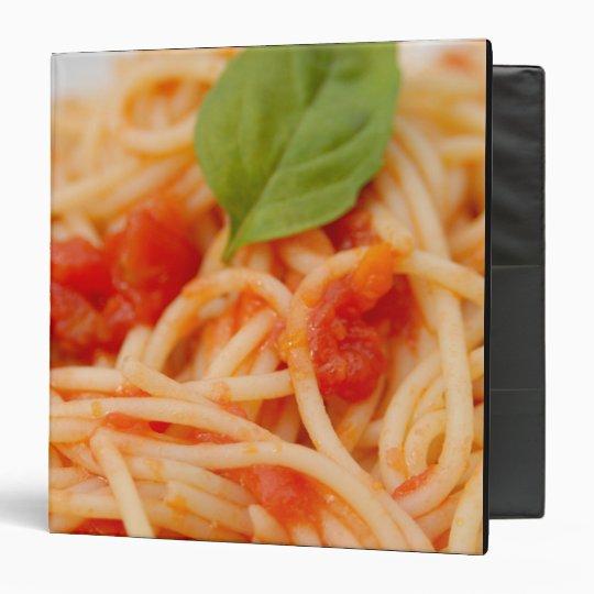 Italy, Orta, Lake Orta, spaghetti with tomato Binder