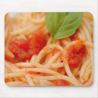 Italy, Orta, Lake Orta, spaghetti with tomato Mouse Pad
