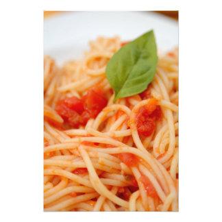 Italy, Orta, Lake Orta, spaghetti with tomato Photo Art
