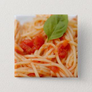 Italy, Orta, Lake Orta, spaghetti with tomato Pinback Button