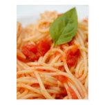 Italy, Orta, Lake Orta, spaghetti with tomato Postcard