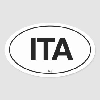 Italy Oval Oval Sticker