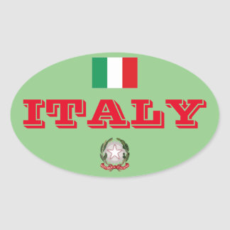 Italy Oval Sticker