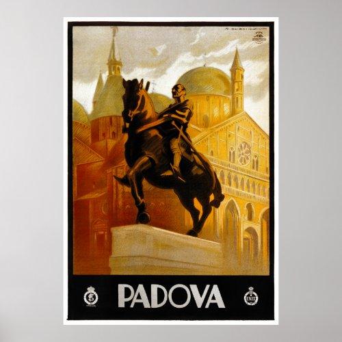 Italy Padova Vintage Travel Poster Restored