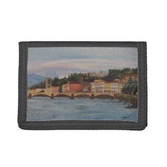 Italy Painting Nylon Wallet