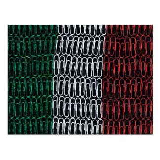 Italy Paperclip Flag Postcard