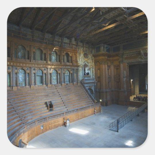 Italy, Parma, Teatro Farnese Square Sticker