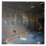 Italy, Parma, Teatro Farnese Tile