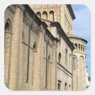 Italy, Parma, Tower of San Giovanni Church Square Sticker