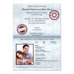 Italy Passport Wedding Invitation_custom unlocked 5x7 Paper Invitation Card