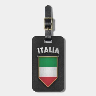 Italy Pennant with high quality leather look Bag Tag