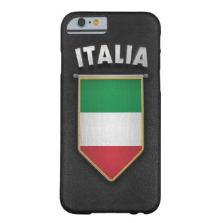 Italy Pennant with high quality leather look Barely There iPhone 6 Case