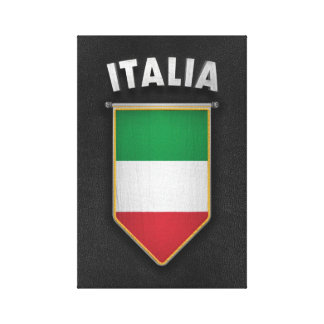 Italy Pennant with high quality leather look Canvas Print