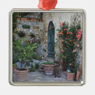 Italy Petroio Potted plants decorate a patio Christmas Ornaments