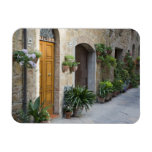 Italy, Pienza. Flower pots and potted plants Rectangle Magnet