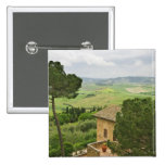 Italy, Pienza. View of the Tuscany 2 Inch Square Button