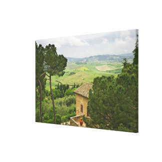 Italy, Pienza. View of the Tuscany Canvas Print