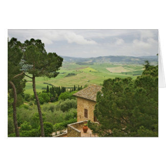 Italy, Pienza. View of the Tuscany Card