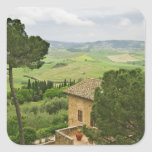 Italy, Pienza. View of the Tuscany Square Sticker