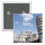 Italy, Pisa. Cathedral, baptistry and Leaning Pinback Button