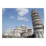 Italy, Pisa. Cathedral, baptistry and Leaning Cards