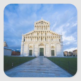 Italy, Pisa, Duomo and Field of miracles, Pisa, Square Sticker