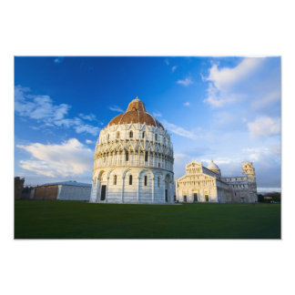 Italy, Pisa, Duomo, Leaning Towerand Field of Photo