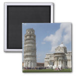 Italy, Pisa. Leaning Tower of Pisa and 2 Inch Square Magnet