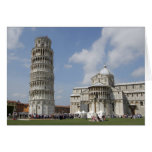 Italy, Pisa. Leaning Tower of Pisa and Card