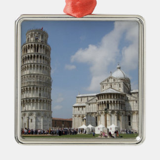 Italy, Pisa. Leaning Tower of Pisa and Metal Ornament