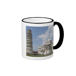 Italy, Pisa. Leaning Tower of Pisa and Ringer Coffee Mug