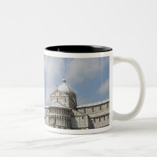 Italy, Pisa. Leaning Tower of Pisa and Two-Tone Coffee Mug